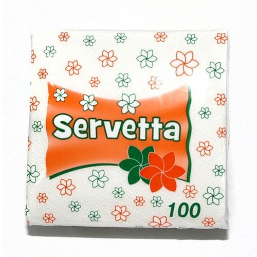 Серветки одноршарові Servetta 100 листів