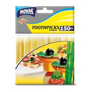 Novax Зубочистки Home Star бамбукові, 150 шт
