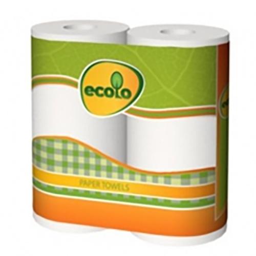 Туалетний папір Ecolo, 4 рулони, Двошаровий